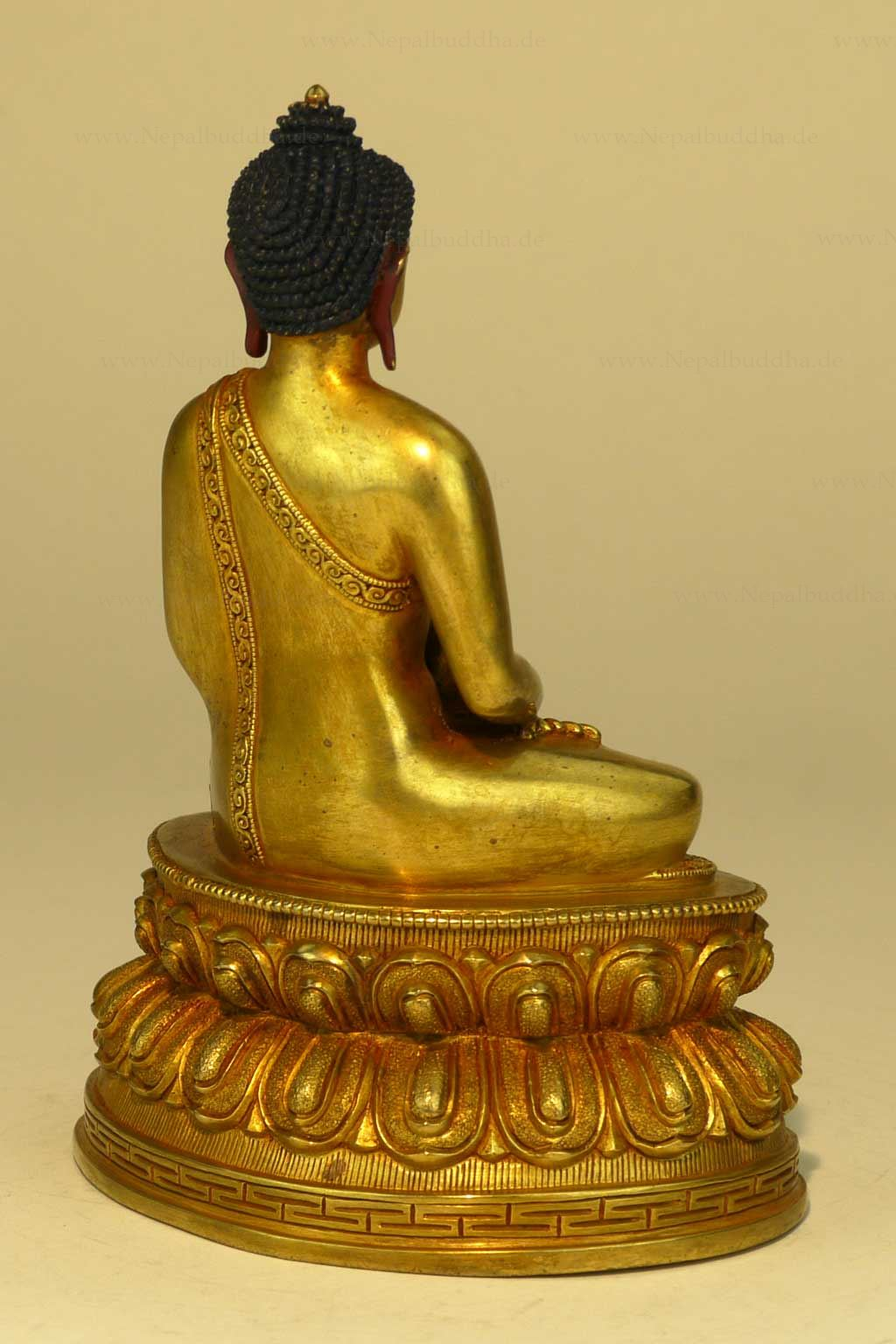 statue buddha amitabha buddhism lotus nepal figur statur unikat figur ebay. Black Bedroom Furniture Sets. Home Design Ideas