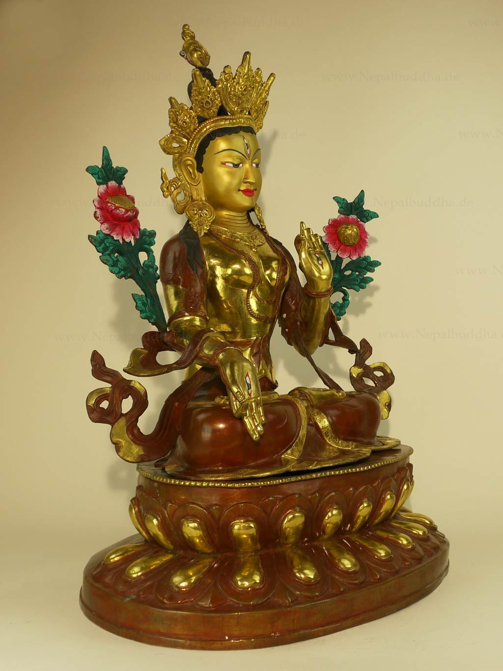 gr ne tara qualit t 24kg buddhismus buddha sommer nepal skulptur bodhisattva. Black Bedroom Furniture Sets. Home Design Ideas