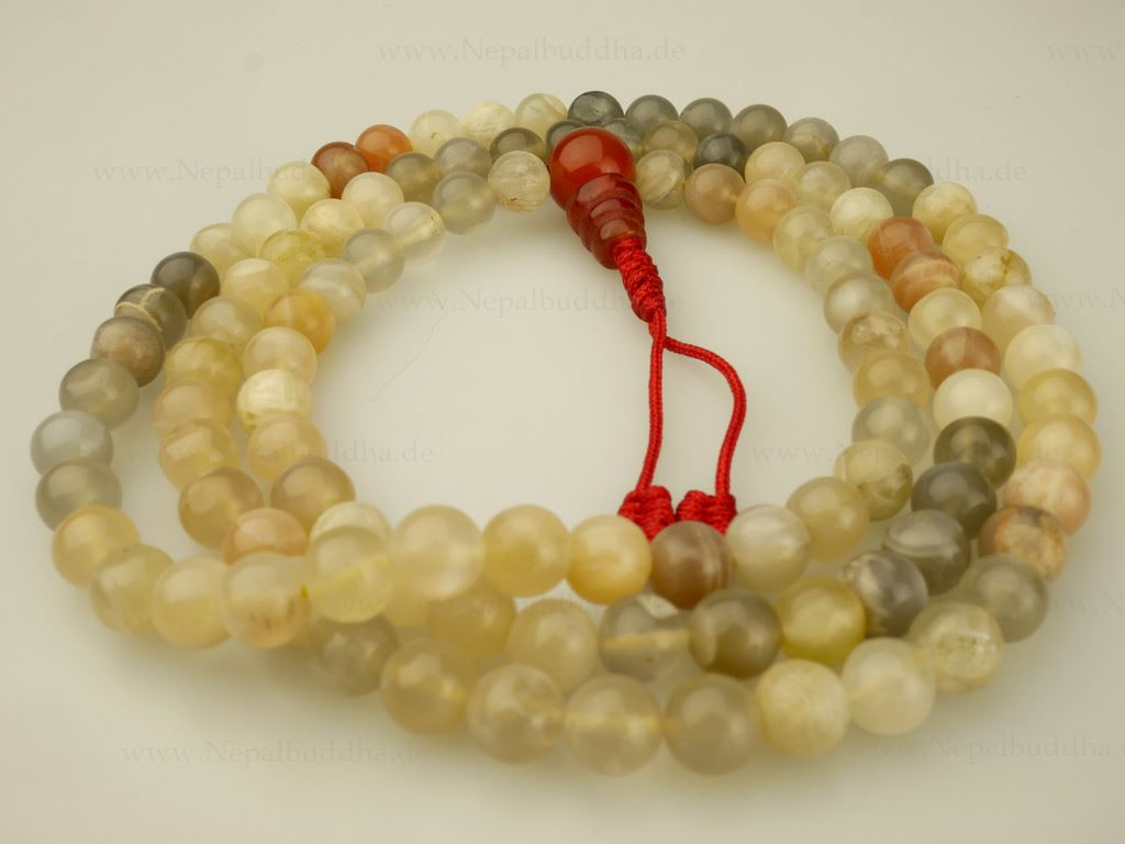 perles de pri re collier perles pierre lune main pierre de lune mala 135 ebay. Black Bedroom Furniture Sets. Home Design Ideas