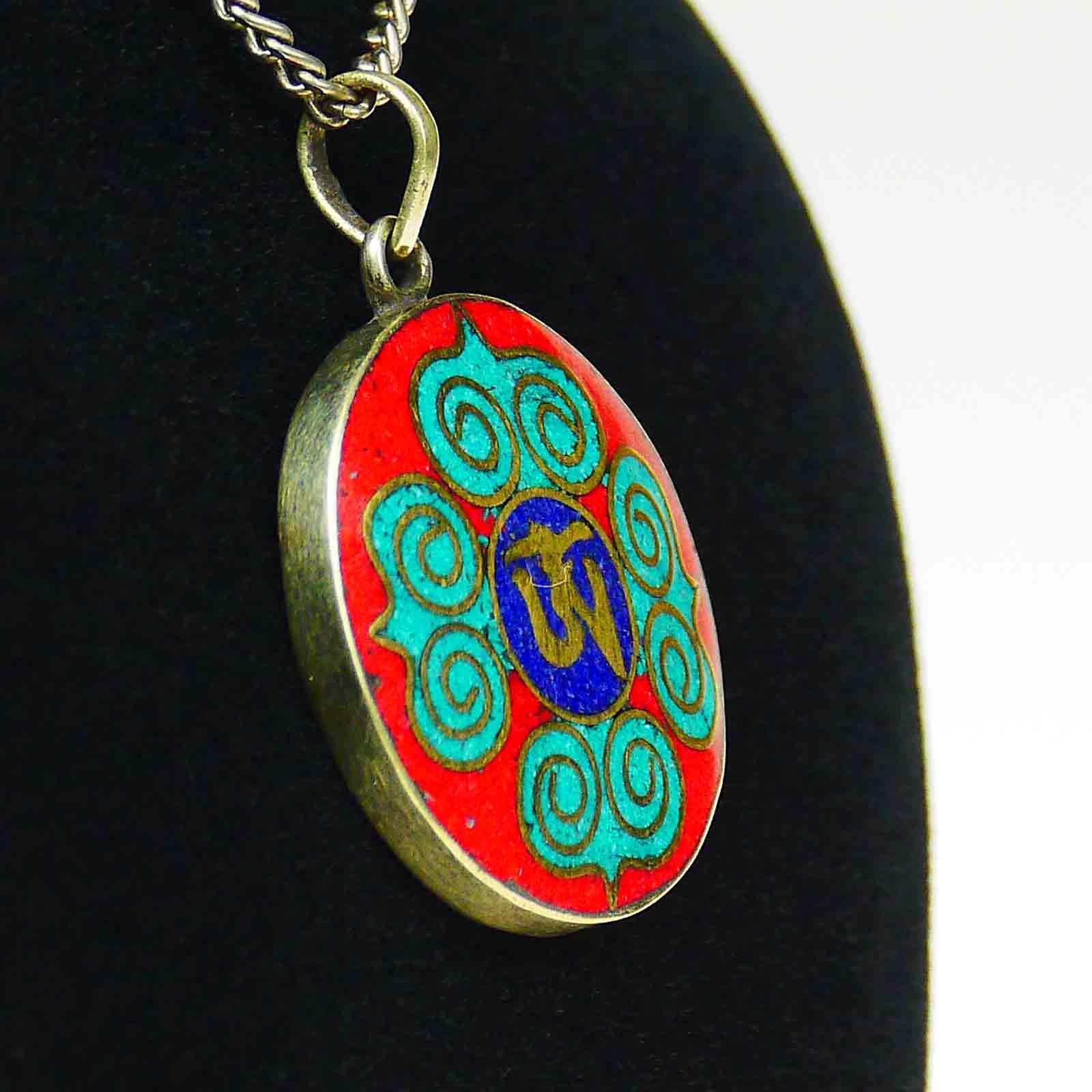 Amulett zum öffnen Edel Tibetisches Gau Medallion Silberschmuck Lotus Nepal a130