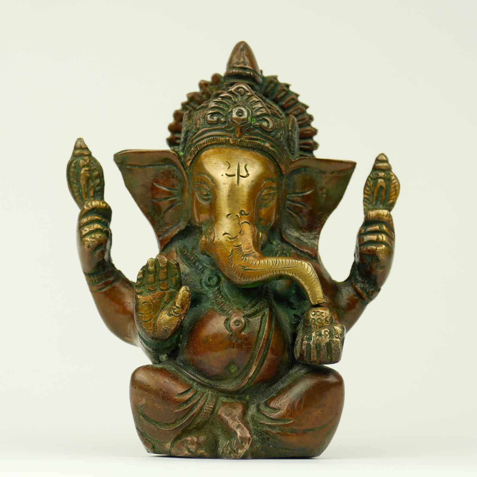 ganesha statue bronze arbeit skulptur nepal handwerk unikat indien ebay. Black Bedroom Furniture Sets. Home Design Ideas
